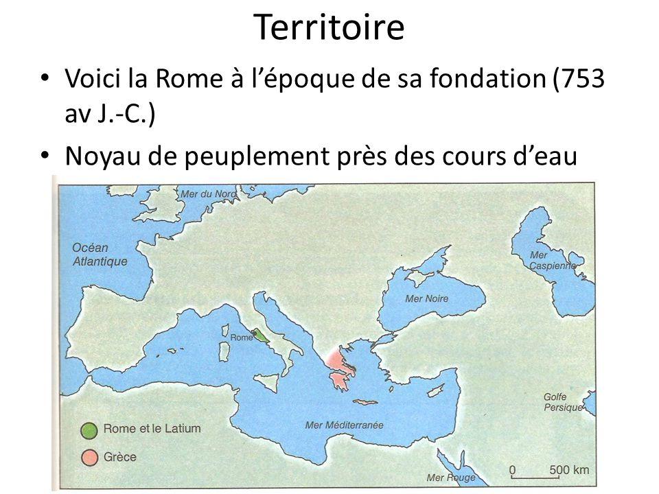Territoire Voici la Rome à l'époque de sa fondation (753 av J.-C.)
