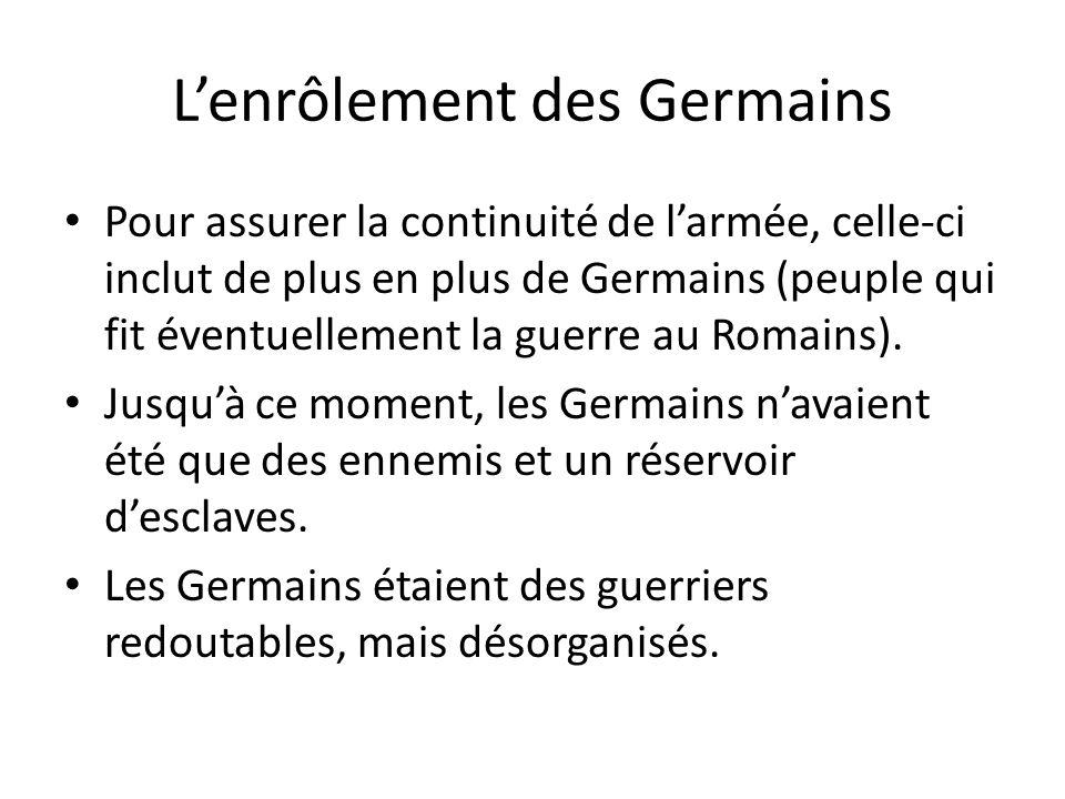 L'enrôlement des Germains
