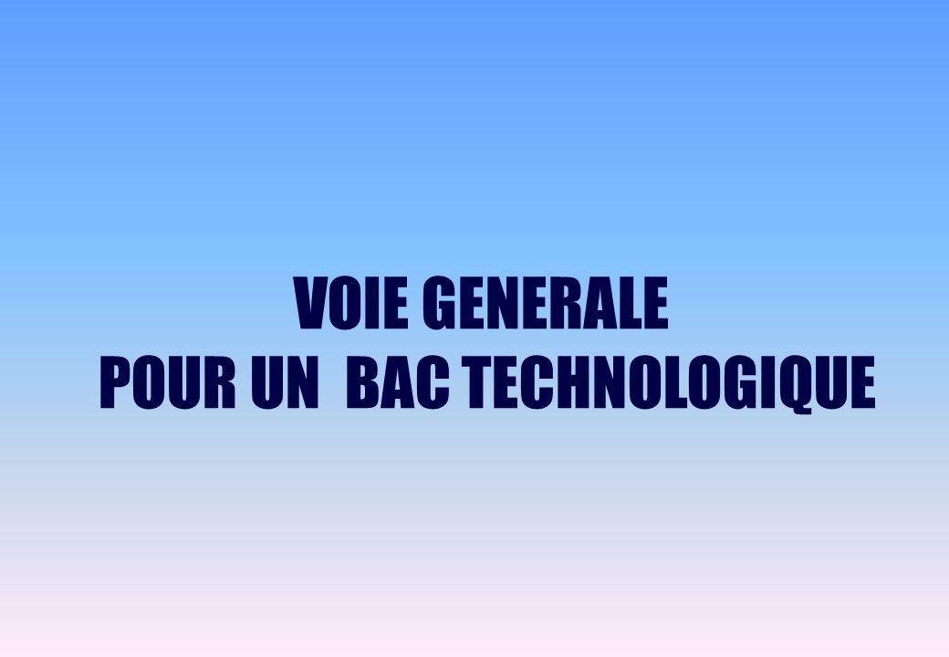 POUR UN BAC TECHNOLOGIQUE
