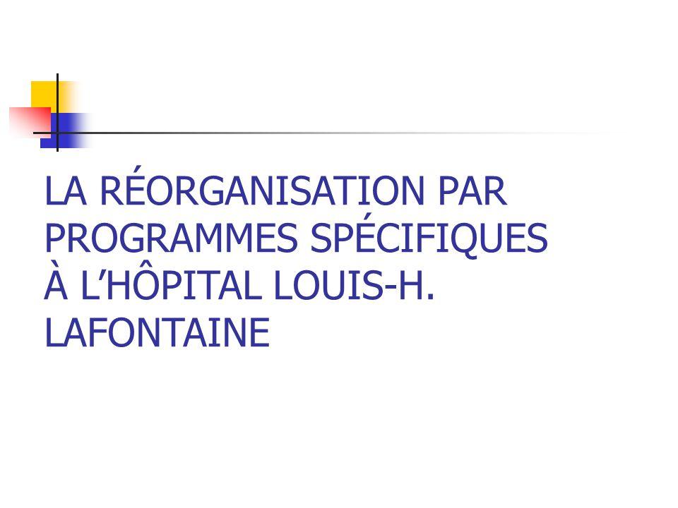 PROGRAMMES SPÉCIFIQUES À L'HÔPITAL LOUIS-H. LAFONTAINE