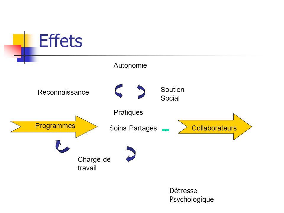 Effets Autonomie Soutien Social Reconnaissance Pratiques Programmes