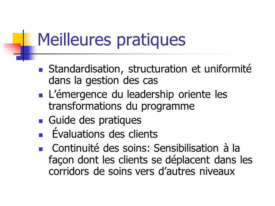 Meilleures pratiques Standardisation, structuration et uniformité dans la gestion des cas.