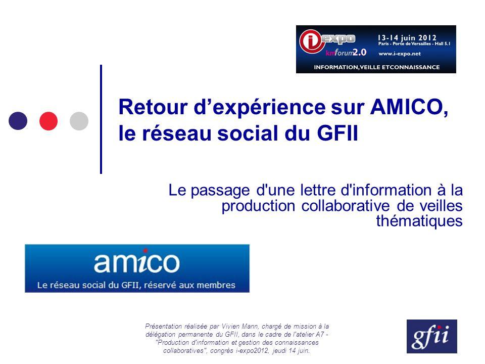 Retour d'expérience sur AMICO, le réseau social du GFII