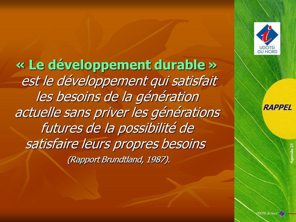 « Le développement durable »