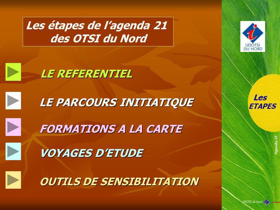 Les étapes de l'agenda 21 des OTSI du Nord