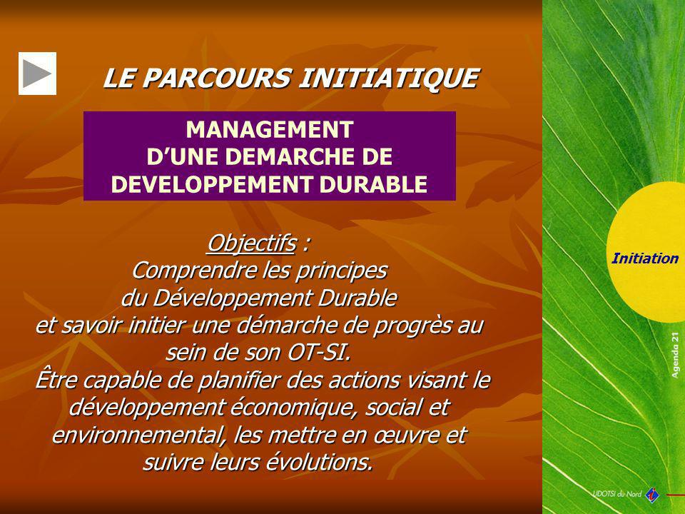 D'UNE DEMARCHE DE DEVELOPPEMENT DURABLE