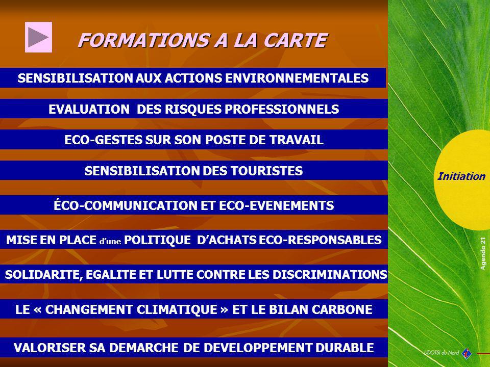 FORMATIONS A LA CARTE SENSIBILISATION AUX ACTIONS ENVIRONNEMENTALES
