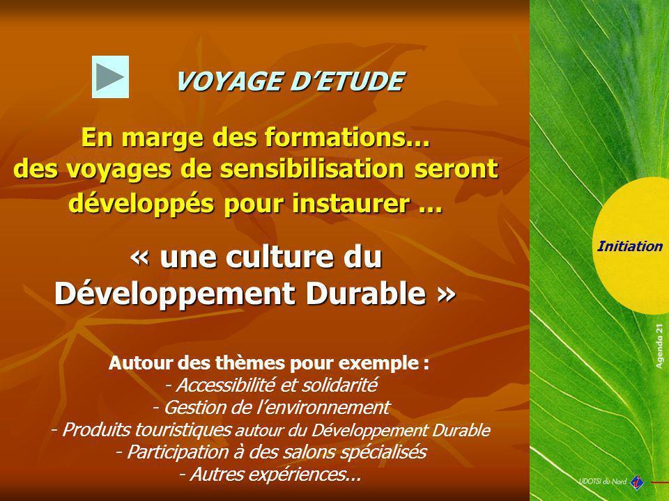 « une culture du Développement Durable »
