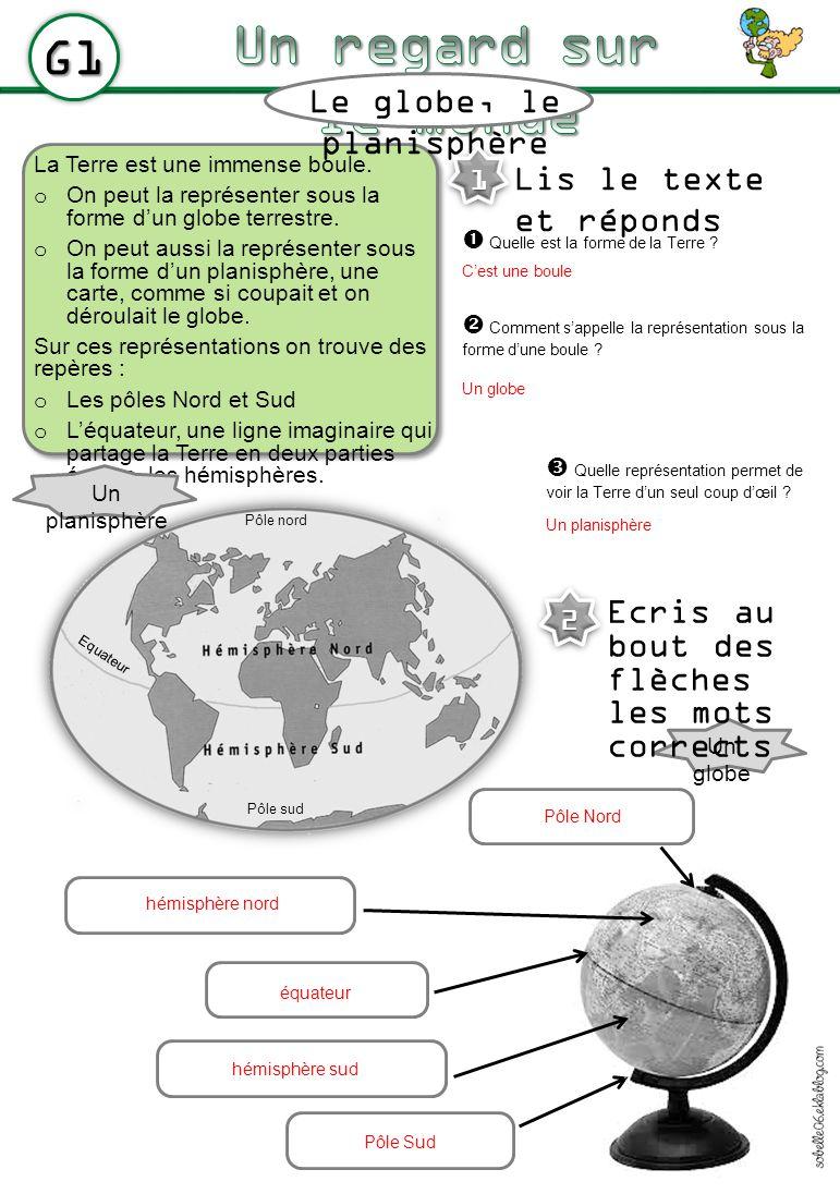 Le globe, le planisphère