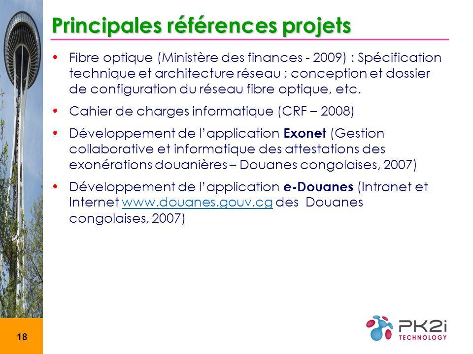 Principales références projets