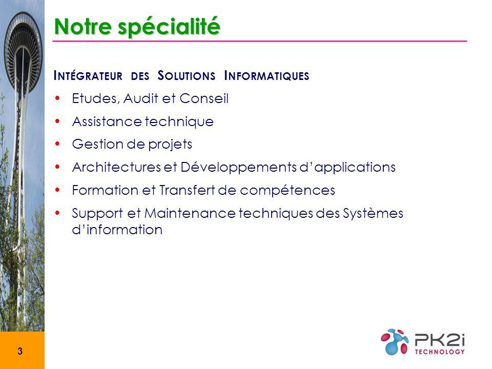 Notre spécialité Intégrateur des Solutions Informatiques