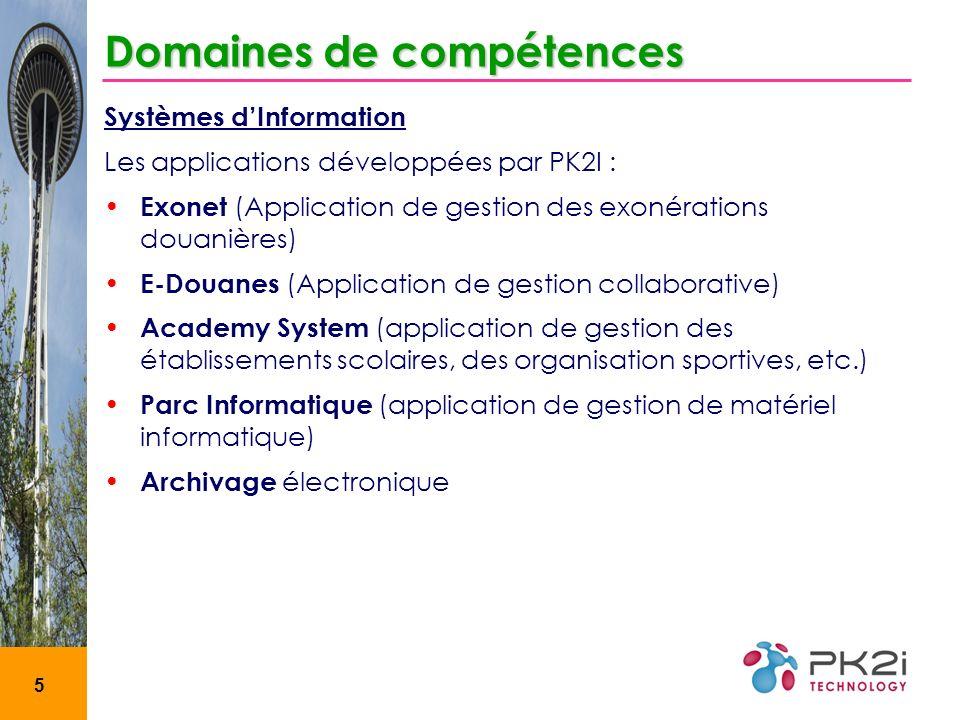 Domaines de compétences