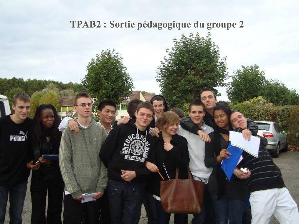 TPAB2 : Sortie pédagogique du groupe 2