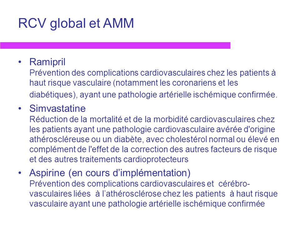 RCV global et AMM