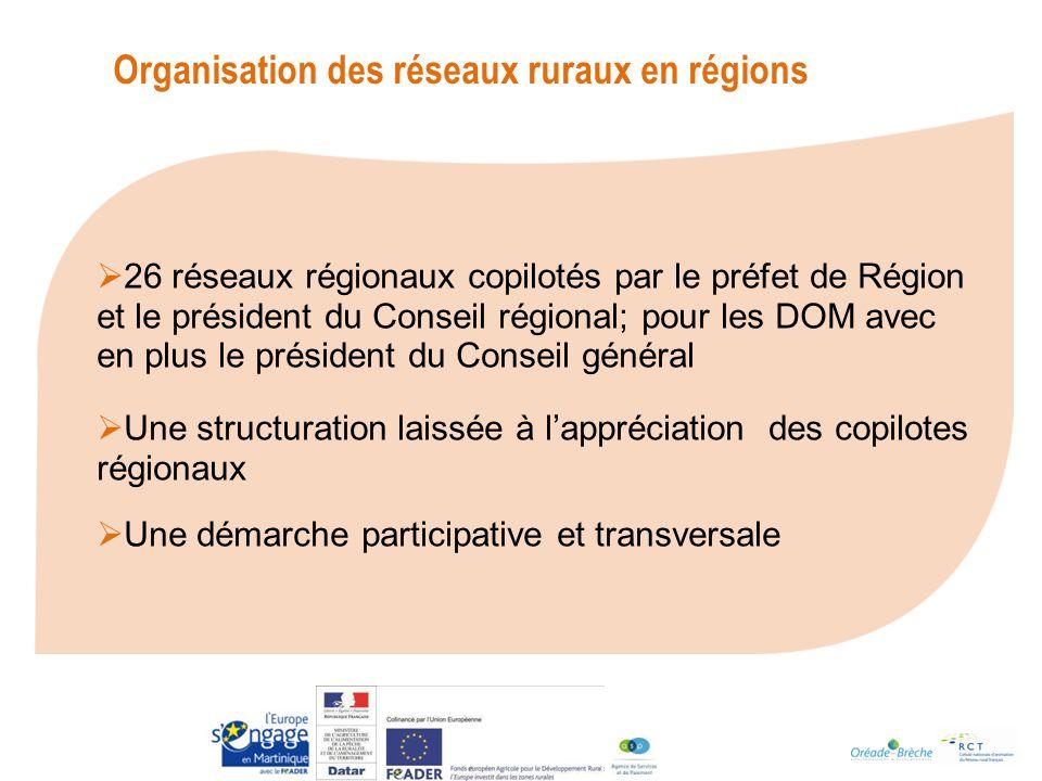 Organisation des réseaux ruraux en régions