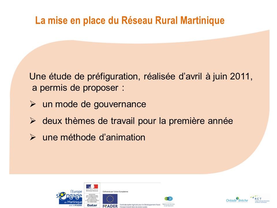 La mise en place du Réseau Rural Martinique