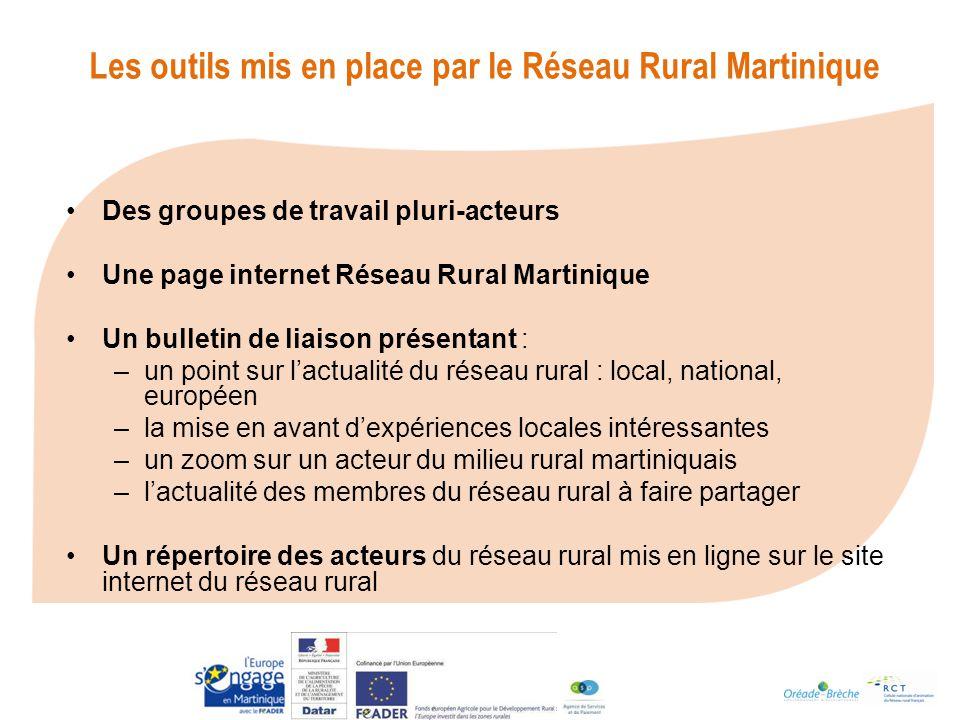 Les outils mis en place par le Réseau Rural Martinique