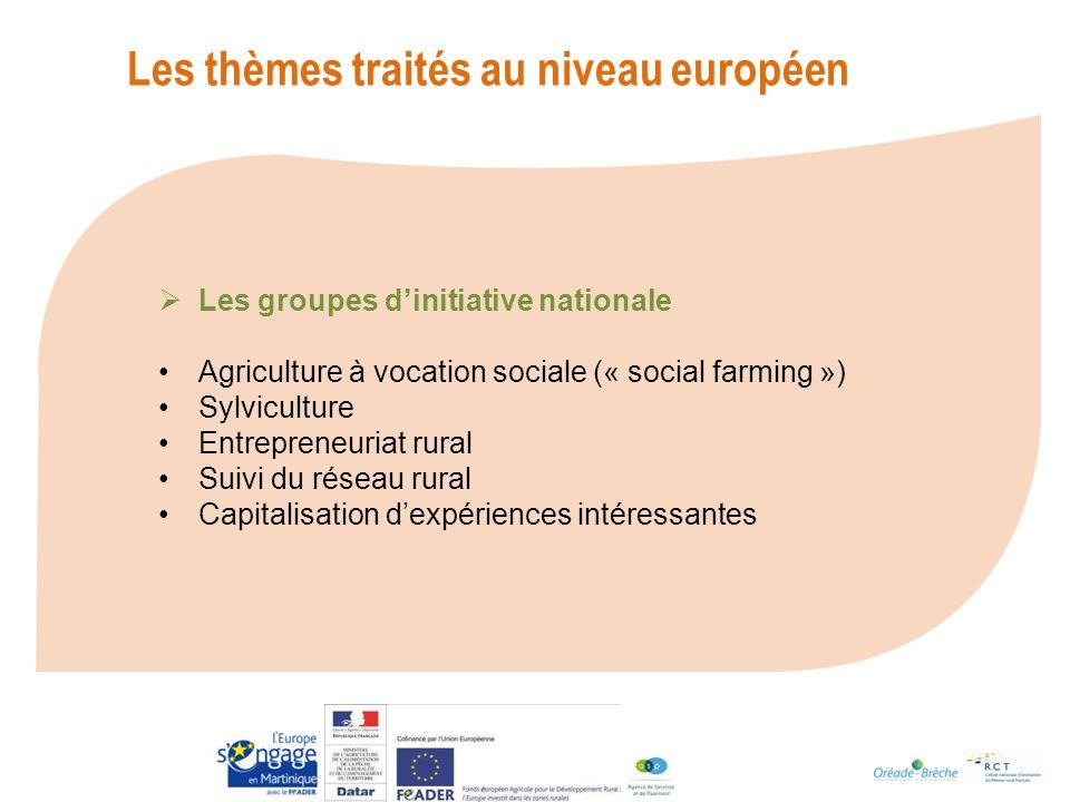 Les thèmes traités au niveau européen