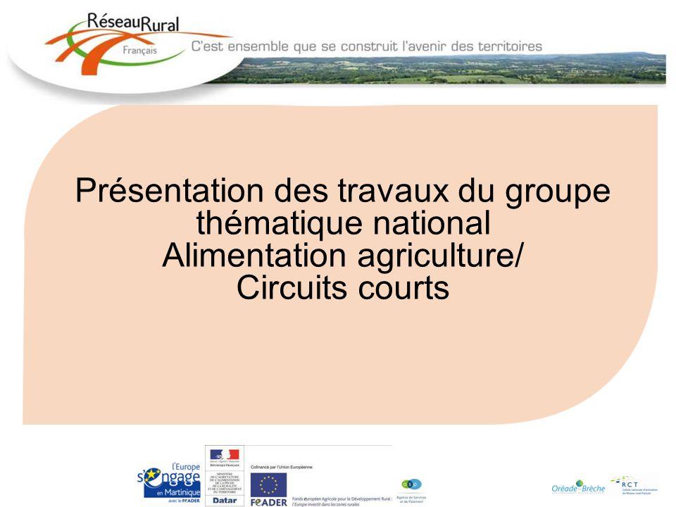 Présentation des travaux du groupe thématique national Alimentation agriculture/