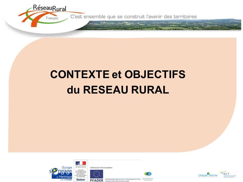 CONTEXTE et OBJECTIFS du RESEAU RURAL