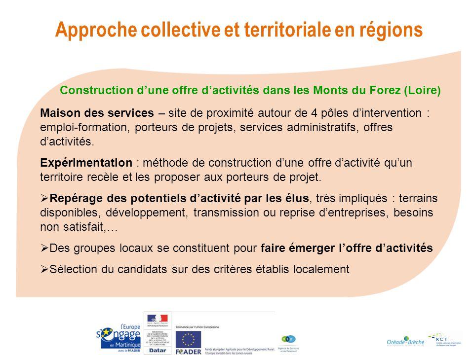 Construction d'une offre d'activités dans les Monts du Forez (Loire)