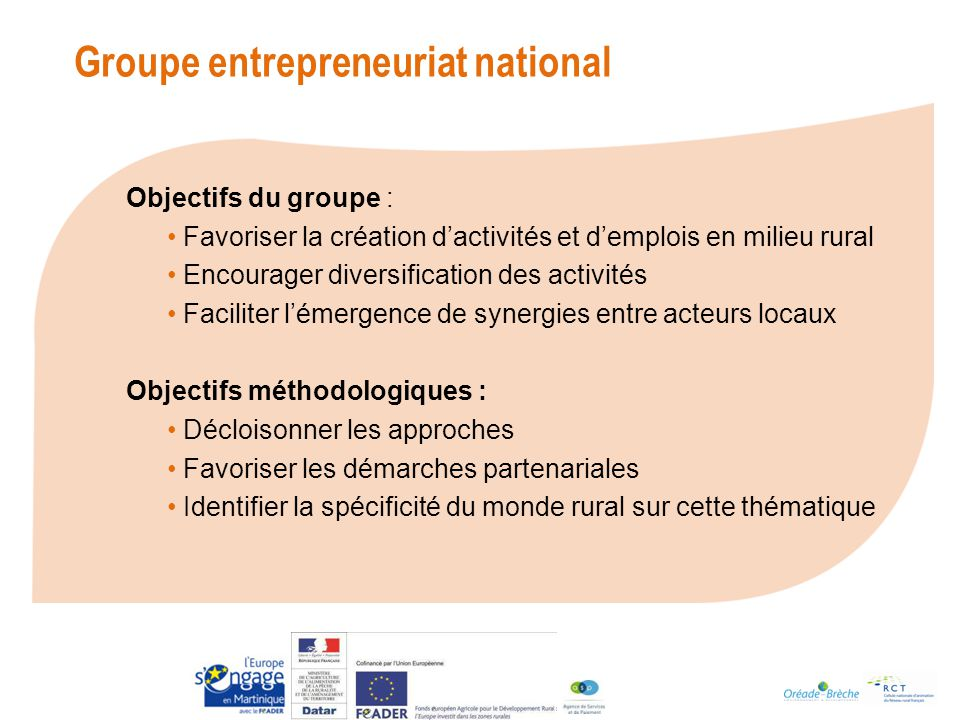 Groupe entrepreneuriat national