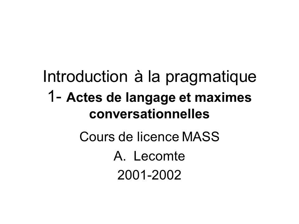 Cours de licence MASS Lecomte 2001-2002