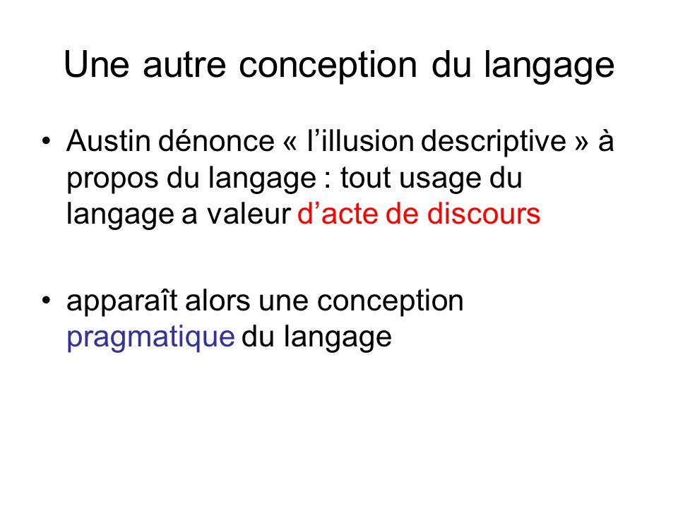 Une autre conception du langage