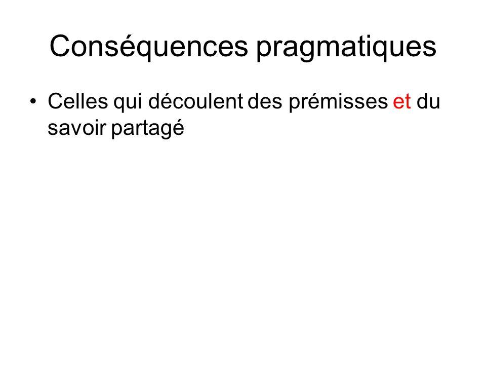 Conséquences pragmatiques