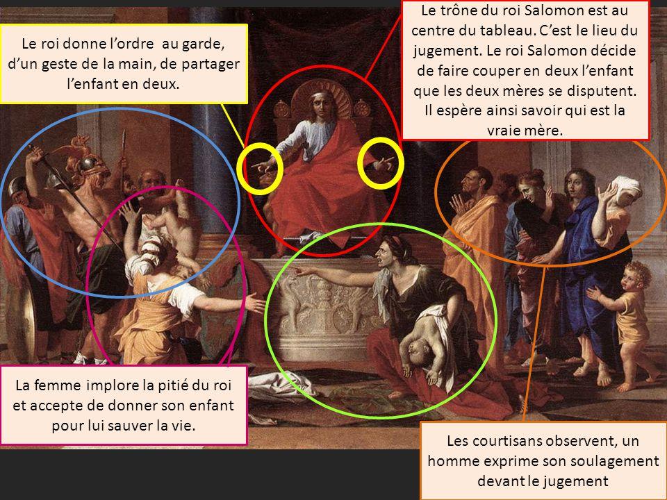 Le trône du roi Salomon est au centre du tableau