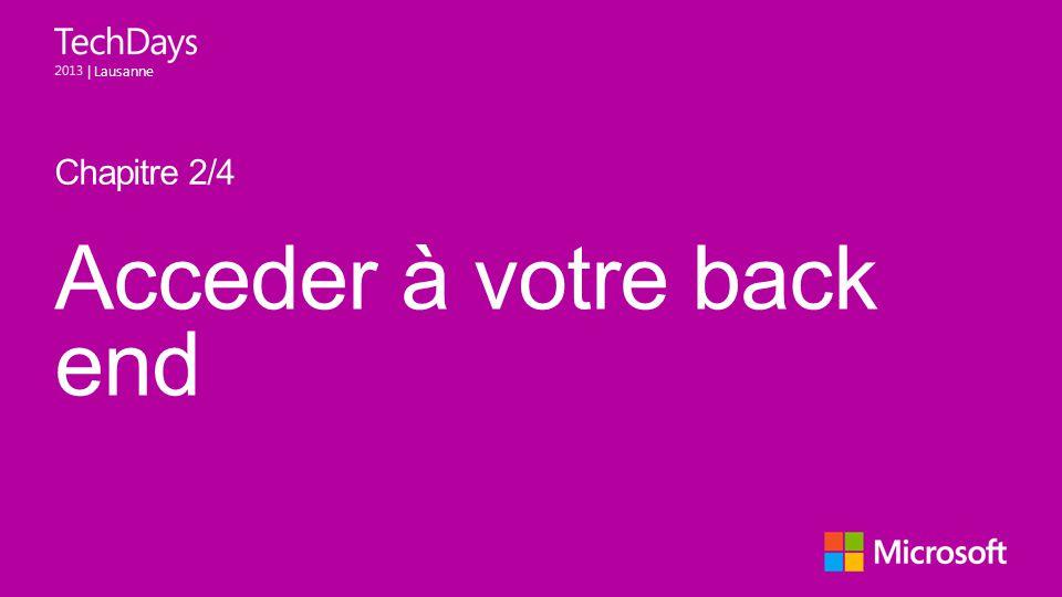 Acceder à votre back end