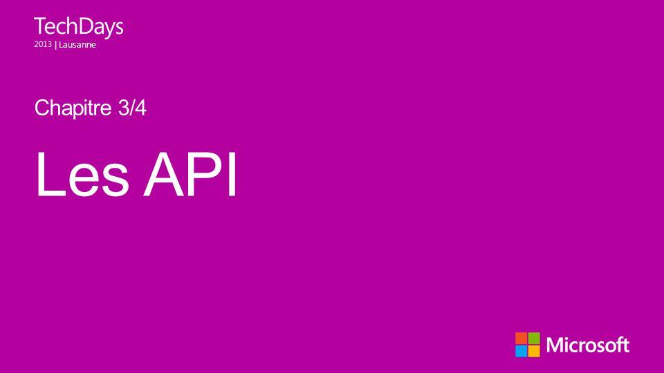 Chapitre 3/4 Les API