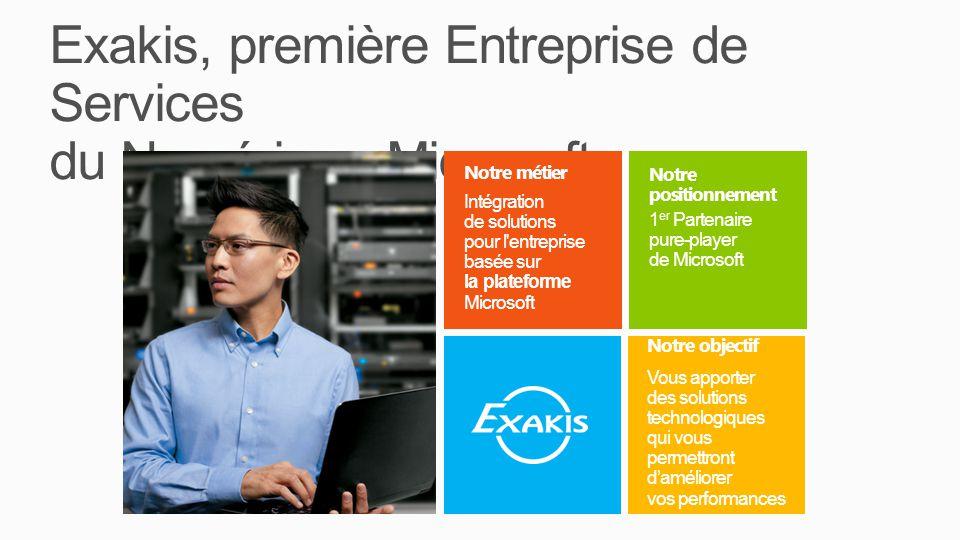 Exakis, première Entreprise de Services du Numérique Microsoft