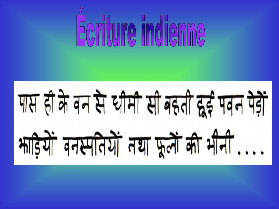 Écriture indienne