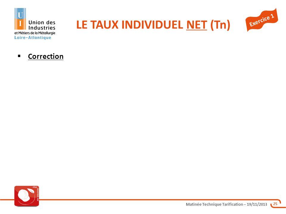 LE TAUX INDIVIDUEL NET (Tn)