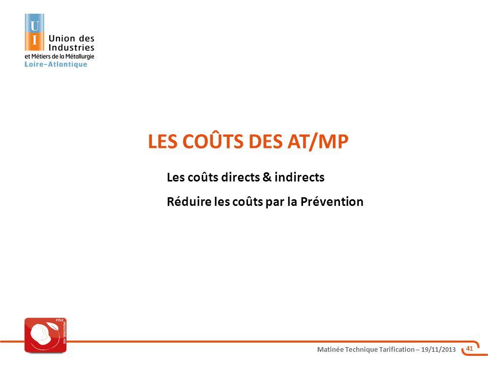 LES COÛTS DES AT/MP Les coûts directs & indirects