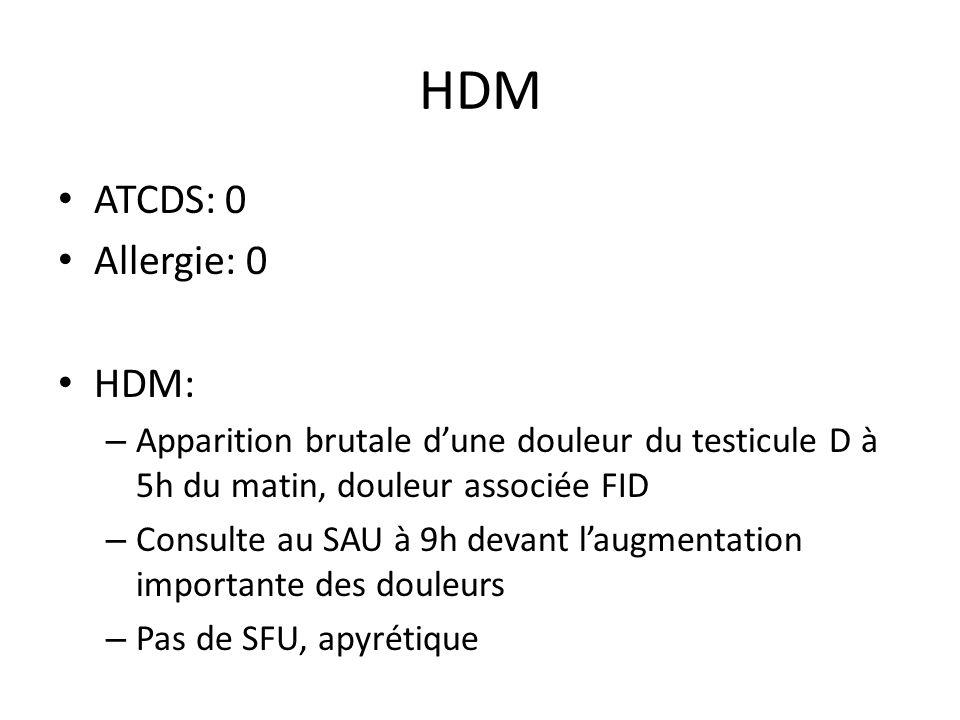 HDM ATCDS: 0 Allergie: 0 HDM: