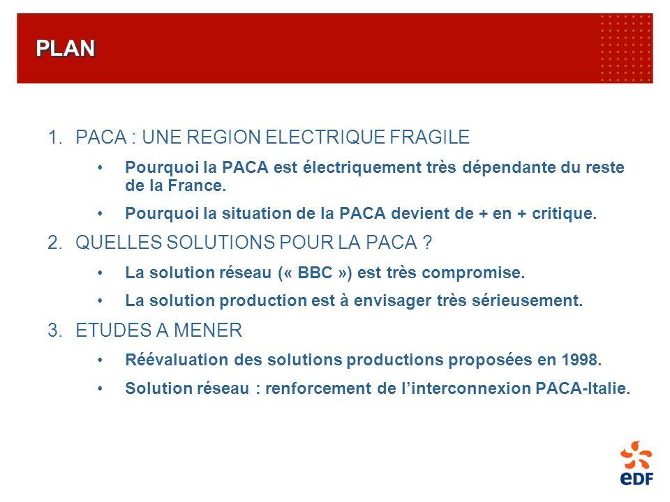 PLAN PACA : UNE REGION ELECTRIQUE FRAGILE