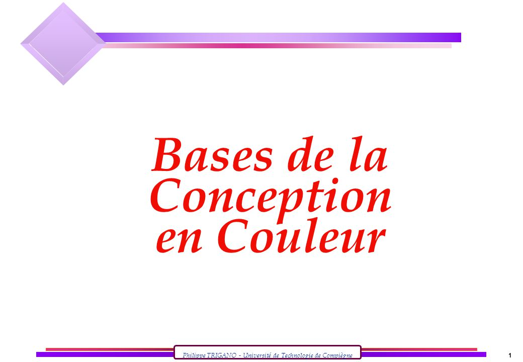 Bases de la Conception en Couleur