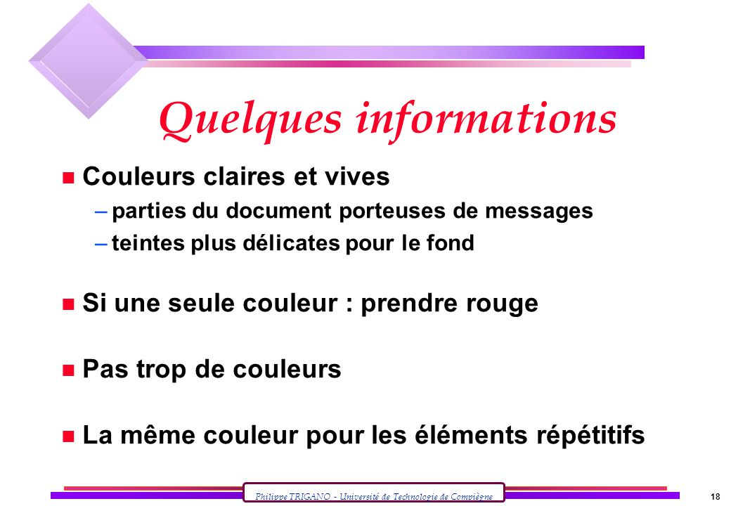 Quelques informations