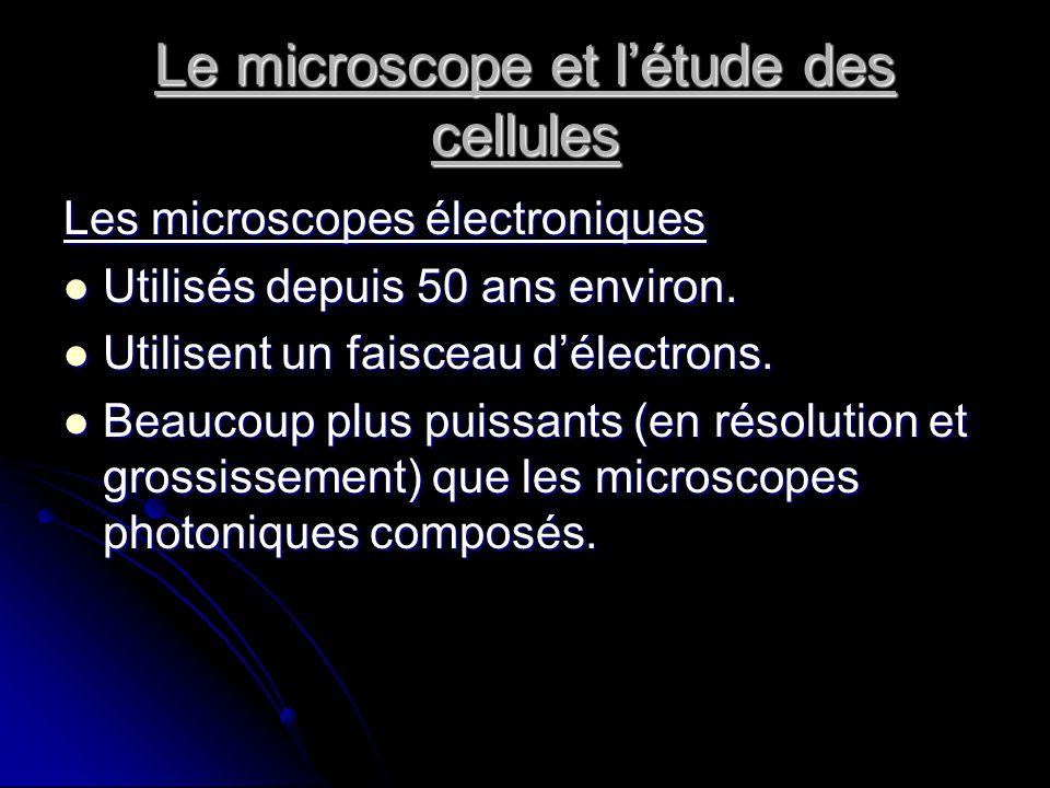 Le microscope et l'étude des cellules