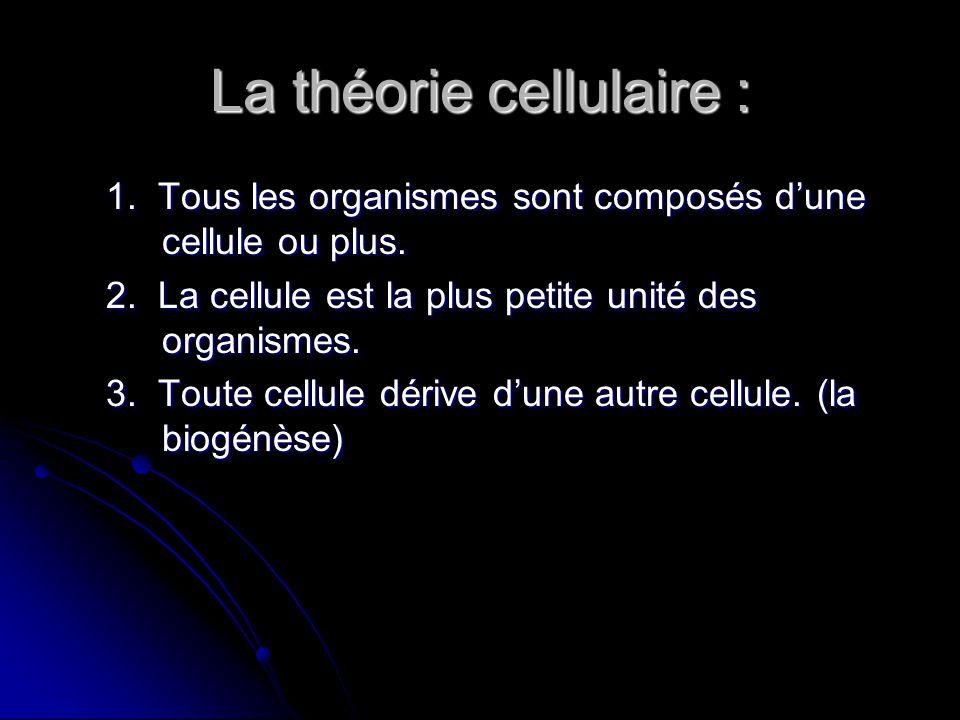 La théorie cellulaire :