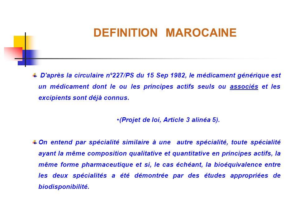 (Projet de loi, Article 3 alinéa 5).