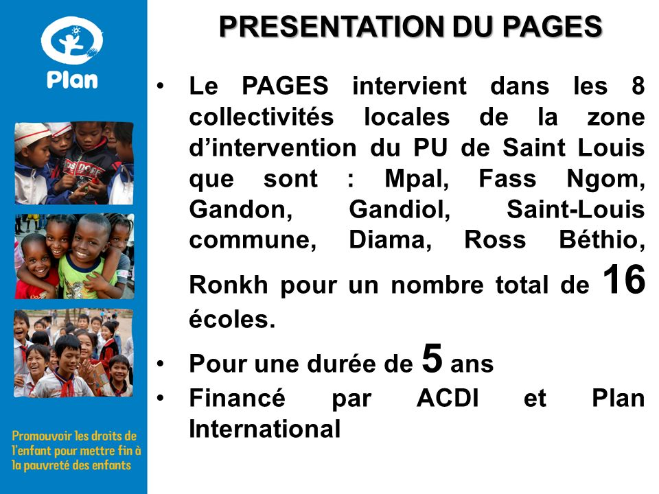PRESENTATION DU PAGES