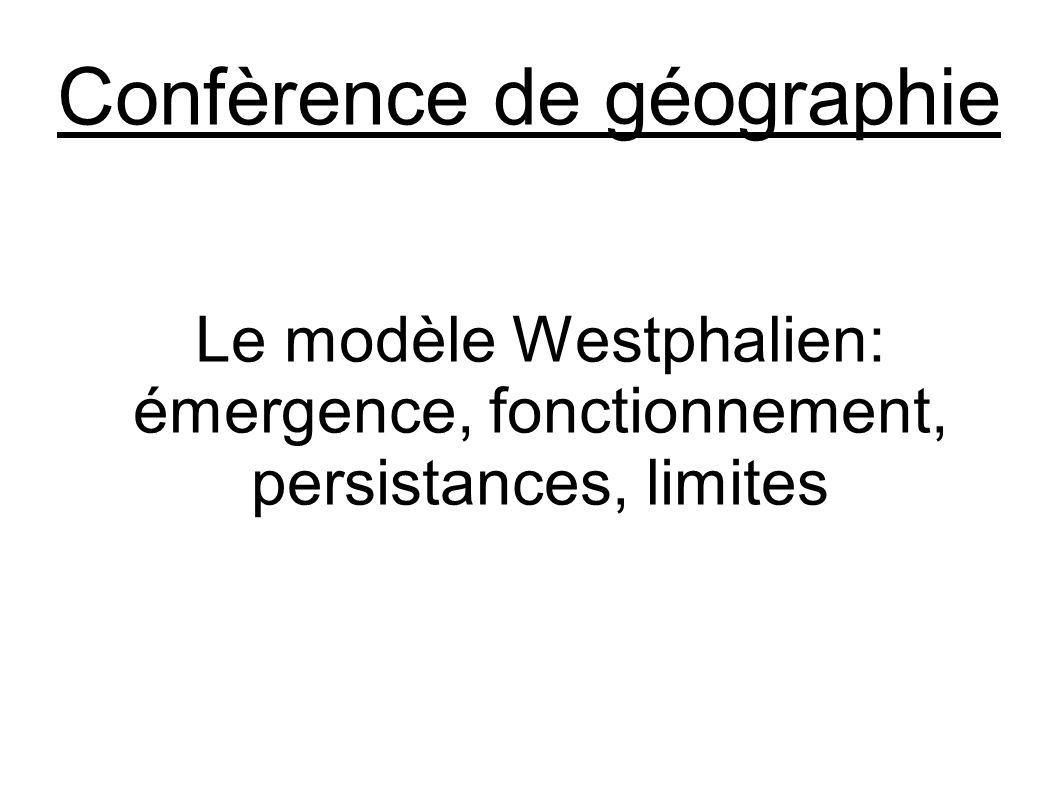 Confèrence de géographie