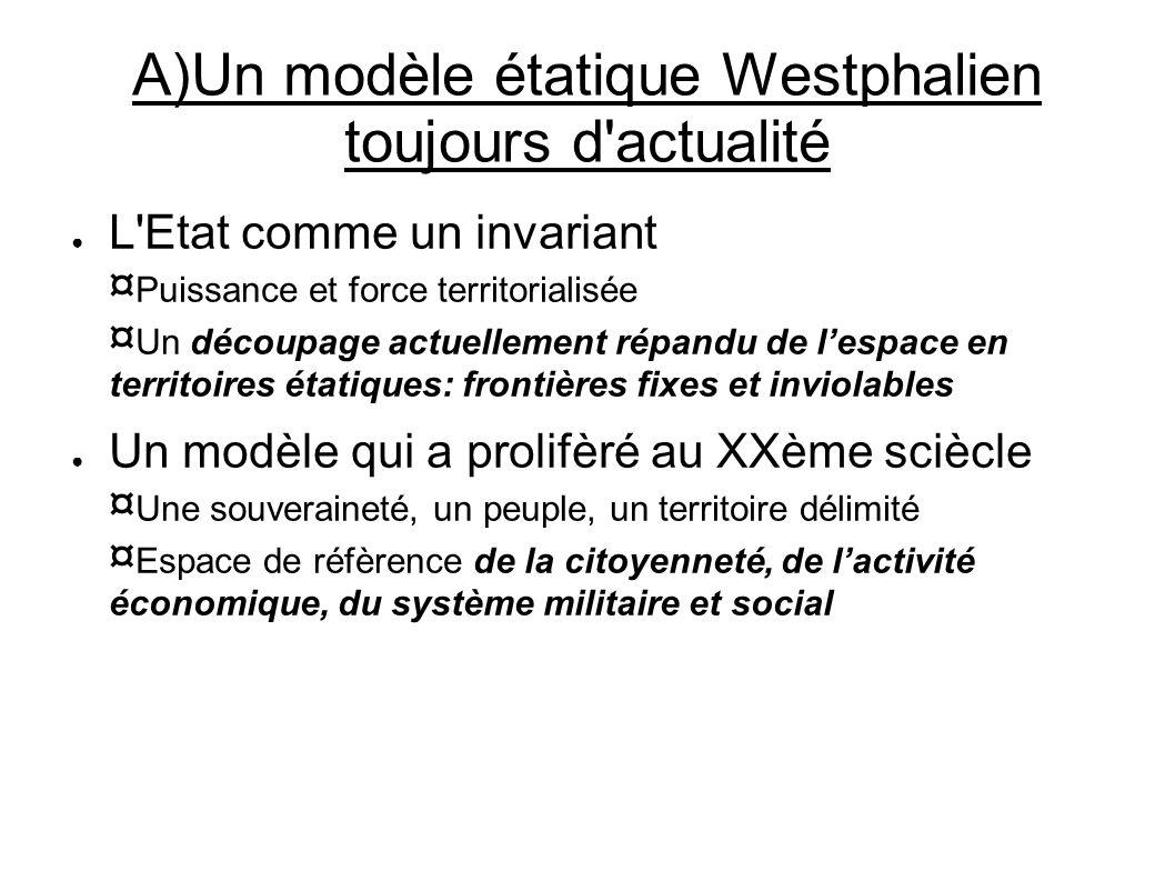 A)Un modèle étatique Westphalien toujours d actualité