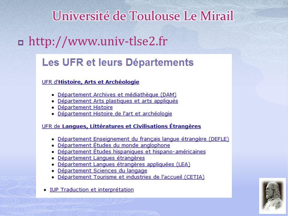 Université de Toulouse Le Mirail