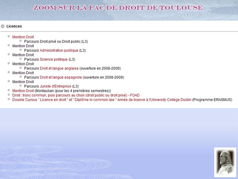 Zoom sur la fac de droit de Toulouse