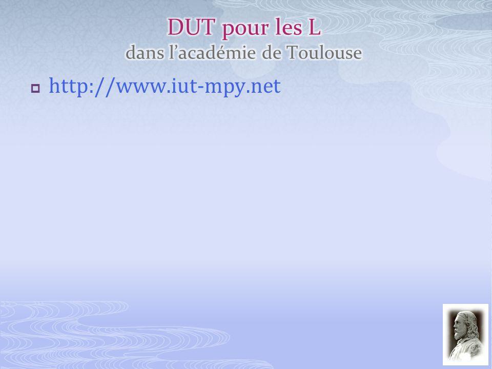 DUT pour les L dans l'académie de Toulouse