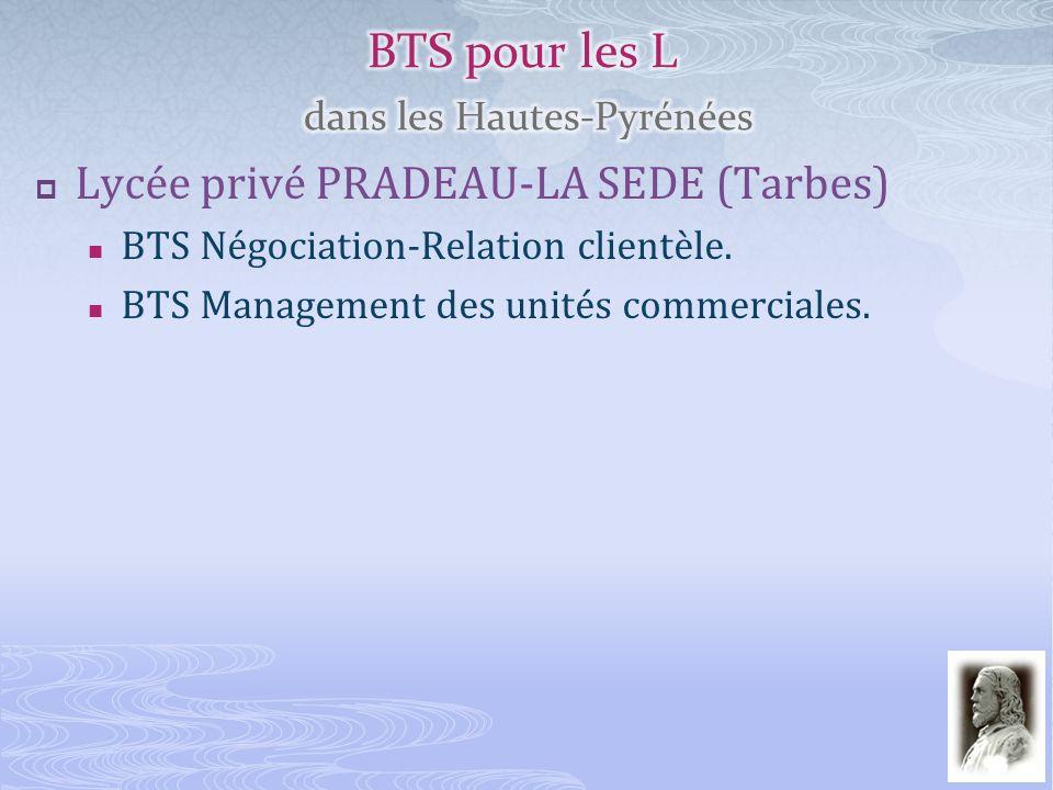 BTS pour les L dans les Hautes-Pyrénées
